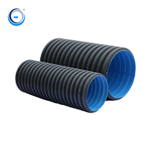 Corrugated double wall plastic curvert extruders hdpe pipes cost pipeline