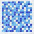 Azulejos de mosaico Mosaico de cristal azul para la piscina Material de construcción