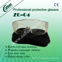 Lunettes de sécurité Zg-04 Pièces de protection laser CO2 de 10600nm