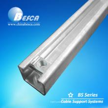 Canal de puntal de acero galvanizado en caliente con tuerca de resorte (fábrica autorizada ISO9001)