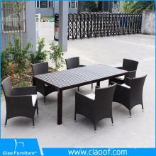 Table de salle à manger en bois PS et pieds en aluminium
