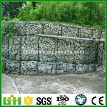 Boîtier hexagonal lourd galvanisé recouvert de PVC / caisse gabion / cages en pierre