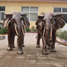 Alta qualidade franklin mint bronze elefante africano