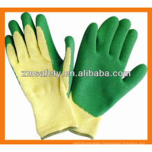 10 Gauge Polycotton Shell Crinkle Latex Coated Work Gloves ZJL01