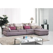 Sofá de canto de tecido moderno para sala de estar