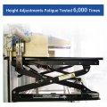 """Loctek Saliência de mesa ajustável de altura panorâmica de 27 """"de largura, estação de trabalho com base em assento, preto (MT101S)"""