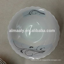 Tigela de porcelana de corte personalizada para comida ou sopa