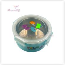 Boîte à lunch PP en acier inoxydable avec serrure pour enfants (450ml)