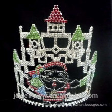 Fashion crystal castle and Santa Claus christmas pageant crowns