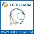 2,0 mm OM3 Fiber Optic Patchkabel 4 / 8 / 12 / 24 Faser MPO