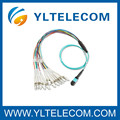 2,0 mm OM3 fibre optique Patch Cord 4 / 8 / 12 / 24 fibres MPO