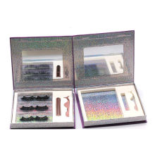 3D670H Hitomi 100% Real Mink Fur 3d Lashes Mink Lashes Package Fluffy 25mm Magnetic Eyelashes with Eyeliner and tweezers