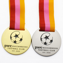 Wholesale Round Gold Embossed Sport Custom Sports Football Award Medal