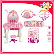Toys 2016 play set make up beauty set dressing table magic mirror