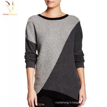 Dernière conception 100 Cachemire Knit Rainbow Crop Sweater pour les femmes