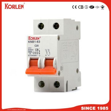 6ka Mini Circuit Breaker με CB KNB1-63 1P