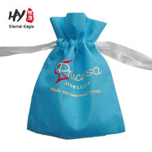 2-color logo reinforced non woven customized drawstring wine jute handle bag