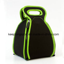 Fashionable Neoprene Fold Picnic Lunch Bag with Zipper Closed