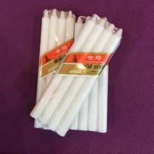 Gemeinsame Paraffinwachs dekorative dünne Kegel weiße Kerzen