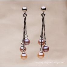 Fashion Round Fresh Water Pearl Earrings