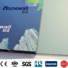 Alunewall 2 meter width fireproof Embossed Aluminum Composite Panel factory price