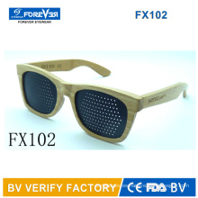 Fx102 Good Quality Wooden Sunglasses with Pinhole Lens