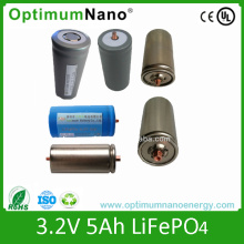 Long Life Time Cylindrical LiFePO4 Battery Cells 32650 3.2V 5ah