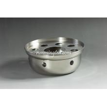 Calentador de té de acero inoxidable de forma redonda