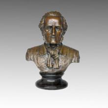 Busts Bronze Sculpture Musician Wagner Decor Brass Statue TPE-622