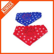 Triangle printed dog bandana with custom logo