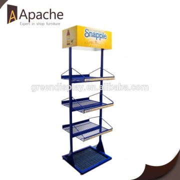 Professional mould design supermarket open book display stand