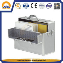 Hard Aluminum Business Case for File Storage with Number Lock