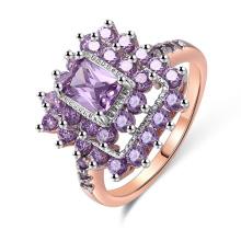 nueva joyería 2018 anillo de plata 925 con piedra púrpura para la boda