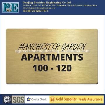 Kundenspezifische Hochpräzisions-Messing-Gravierplatten