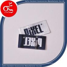 Étiquette de damassé de conception personnalisée 100% étiquettes tissées en sergé de polyster