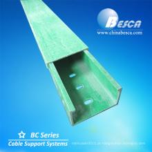 Fabricação horizontal da bandeja de cabo do cotovelo circular da forma do arco de 90 graus FRP