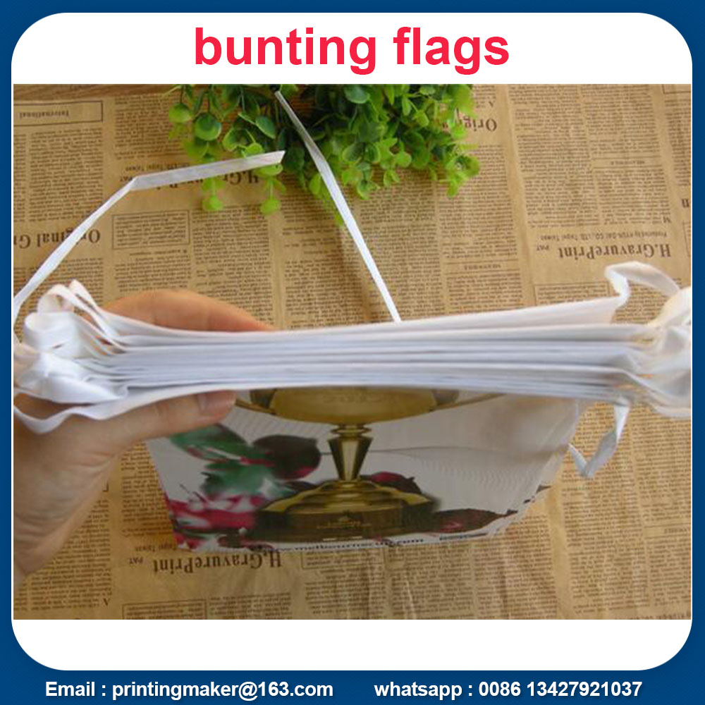 printed bunting flags