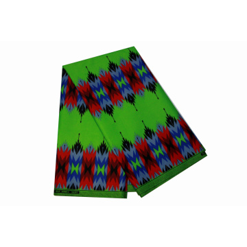 100% polyester African lilin cetak kain