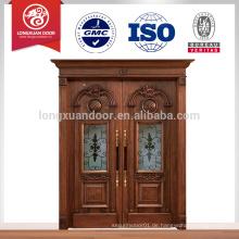 Hölzerner Haupteingangstürentwurf, bestes Holzschnitzentürentwurf für Landhaus u. Hauseintrag