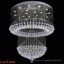 LED contemporáneo lobby hotel araña de cristal colgante de luz de techo 92027