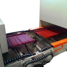 Цвет камня покрытием металлочерепица линия по производству цветной камень стальная крыша плитка машина
