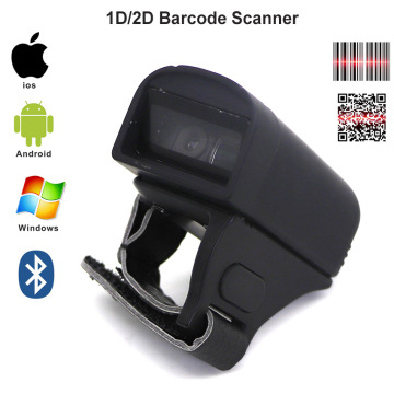 Handheld Bluetooth Ring Barcode Scanner Reader