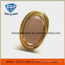 Art- und Weisequalitäts-Schmucksache-Edelstahl-Ring mit rosafarbenem Stein