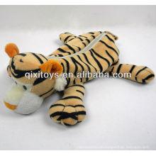 lindo estuche de lápices de tigre felpa con cremallera para adolescentes