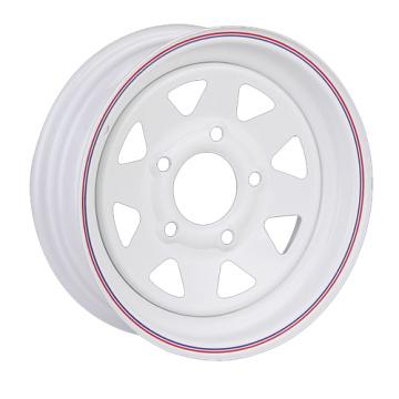 8 Spoke Hourse and Boat Trailer White Steel Wheel Rim