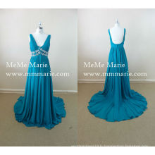 Une robe de soirée en ligne Sexy V Neck Bare Back Robe de soirée avec strass BYE-14025