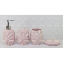 Embossed Ceramic Bathroom Set on Promotion