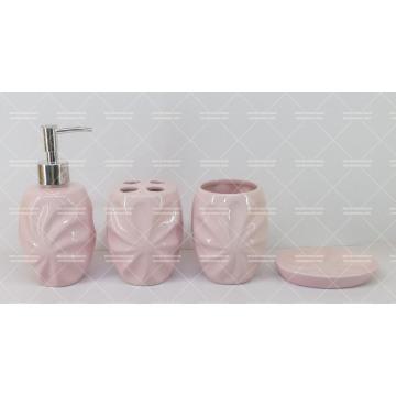 Juego de baño de cerámica en relieve en promoción
