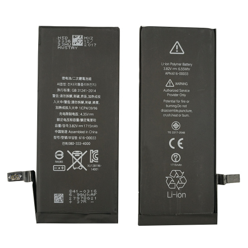 Batería de ion de litio de repuesto de iPhone 6S 3.82v 1715mAh
