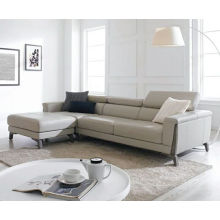 New Leather Sofa and Small Apartment Living Room Sofa